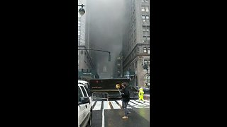 Smoke Billows From Fire Near Grand Central Station