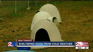 Tulsa SPCA collecting dog houses for wintertime - Video