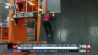 Valentines Day is Parents Night Out at Sky Zone Fort Myers - 7:30am live report - Video