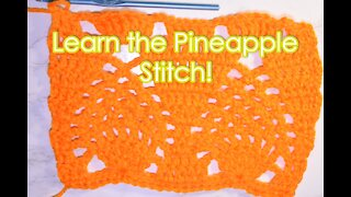 How to Crochet the Pineapple Stitch