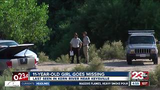 11-year-old girl goes missing in Kern River near Keyesville - Video