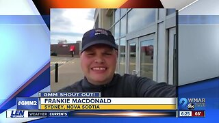 Good morning from Frankie MacDonald!