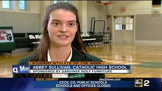 Student Athlete of the Week: Abbey Sullivan - Video