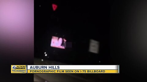 Pornographic film seen on I-75 billboard