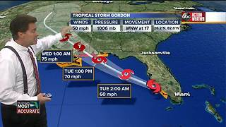 Tropical Storm Gordon brings hurricane warning to Gulf Coast