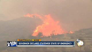 Gov. Gavin Newsom declares statewide emergency as wildfires roar