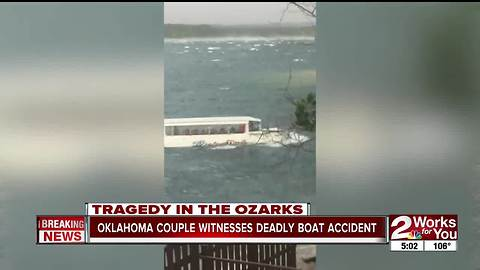 Oklahoma couple witnesses deadly boat accident
