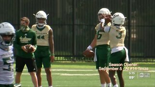 USF Football team returns to the practice field