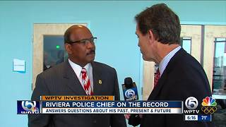 Riviera Beach police chief speaks with WPTV - Video