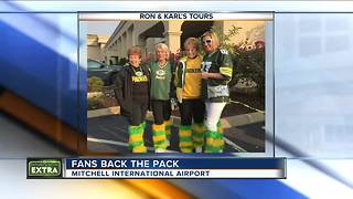 Packers fans travel to Atlanta to support the green and gold - Video