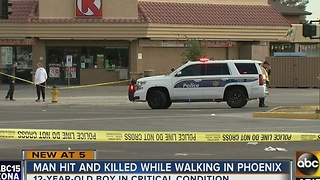 Man struck, killed while crossing Phoenix street