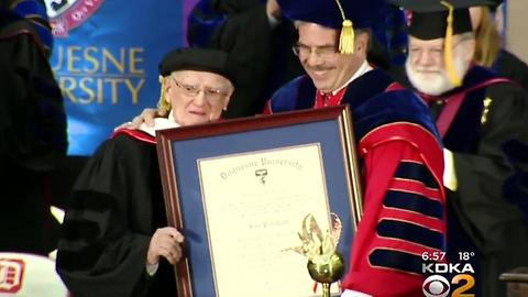 100 Year Old Man Gets Honorary Degree