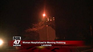 Woman stabbed early Sunday morning