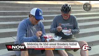 52nd annual Strawberry Festival held on Monument Circle - Video