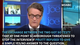 Scarborough Spars With EPA Chief Over Trump's Stance On Climate Change - Video