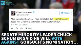 Chuck Schumer Will Join Democrat Filibuster Of Gorsuch - Video