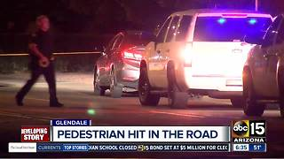 Pedestrian hit by car in Phoenix overnight - Video