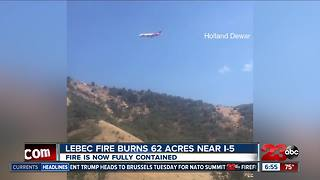 Lebec fire now fully contained - Video