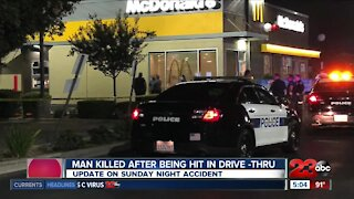 Man killed after being hit in McDonald's drive-thru
