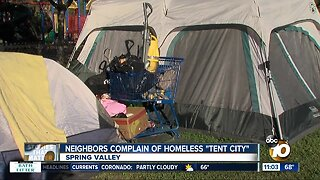 Spring Valley park crowded with homeless tents