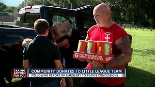 Community donates to Little League after theft - Video