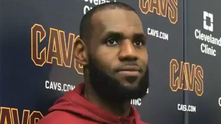 LeBron James REACTS to Dwyane Wade Joining the Cavs - Video