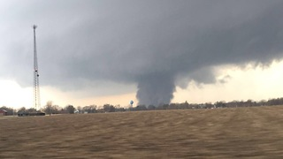 Tornado Rips Through Washburn, Illinois - Video
