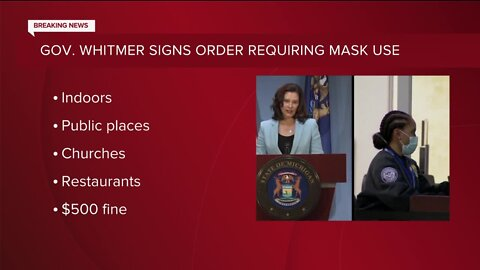 Gov. Whitmer signs order requiring mask use