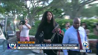 Venus Williams arrives at lawyer's office to give sworn testimony in deadly crash - Video