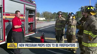 Course teaches high school students how to become a firefighter