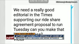 Attorney accuses PTC officials of cover-up; believes public records are being withheld - Video