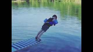 "Kid Shows Off His Funny ""Diving"" Skills - Video"