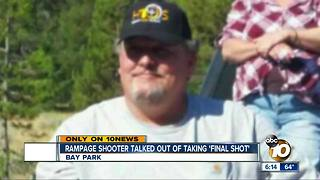 Northern California shooter talked out of taking