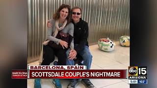 Couple in Barcelona celebrating wedding anniversary - Video