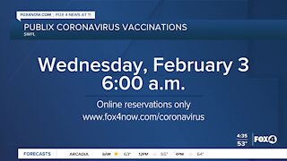 Publix coronavirus vaccination appointments open tomorrow