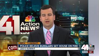 Police: Home set on fire to cover up burglary - Video