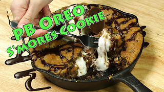 Peanut Butter Oreo S'mores Cookie - Video