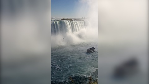 Breathtaking panoramic view of Niagara Falls