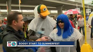 Summerfest off to a rainy start