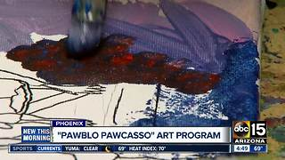 Adults with special needs participate in art program - Video