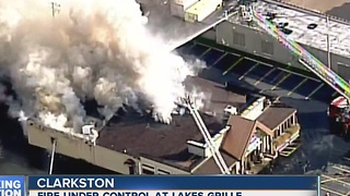 Clarkston fire put out - Video