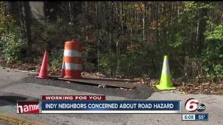 Neighbors concerned about untimely repair of northeast side road hazard