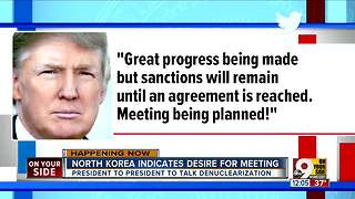 North Korea indicates desire for meeting