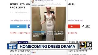 Teenage girl struggles to find appropriate homecoming dress - Video
