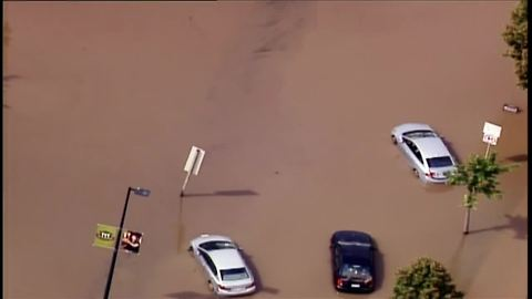 Chopper 4 over severe flooding in the Madison area