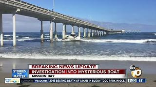 Authorities investigate mysterious boat found near OB Pier - Video