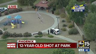 12-year-old shot at a park in southwest Phoenix - Video