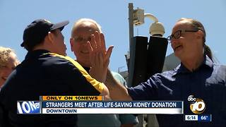 Kidney donor, recipient meet for the first time - Video