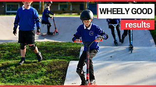 School becomes first in UK to build its own scooter park