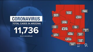 11,700+ confirmed coronavirus cases reported in Arizona